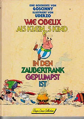 Wie Obelix als kleines Kind in den Zaubertrank geplumpst ist.