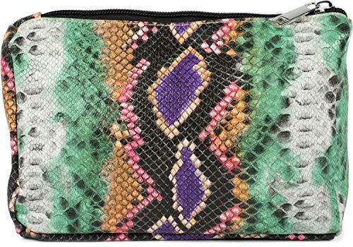 styleBREAKER Damen Beautybag in bunter Schlangen Optik, Kosmetiktasche, Make Up Bag, Taschen Organizer 02013017, Farbe:Mehrfarbig