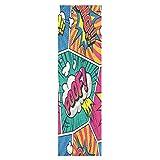Fumetto Colorato Carino Pop Skateboard Grip Tape Adesivo Nastro Grip Foglio Lungo Antisciv...