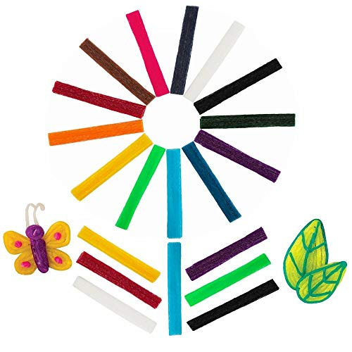 Fasdu 800pcs Wax Craft Sticks 13 Colors Kids Bendable Craft Sticky Wax Yarn for Children DIY Art,School Project and Home Craft Decorations