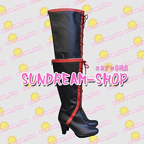 『【サイズ選択可】男性28CMコスプレ靴 ブーツ22118バカとテストと召喚獣 バカテスFFF団女性用 ロングブーツ』のトップ画像