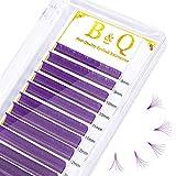 Colored Eyelash Extensions Purple Easy Fan Volume Lashes 0.05 0.07 Color Lashes Easy Fan Lashes Volume Lash Extensions(Purple-D-0.07,8-15MIX)