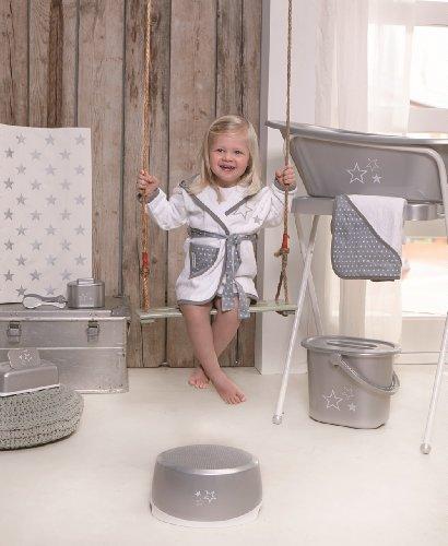 Bébé-Jou 680037 - Cambiador plastificado, 72 x 44 cm, color plata