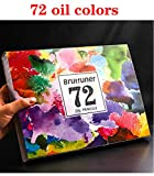 QIANHUA120/160 colores Set de lápices de color de aceite profesional Pintura de artista Boceto Lápiz de color de madera Suministros de arte escolar, 72 colores de aceite