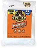 Gorilla Hot Glue Sticks, Mini Size, 4' Long x .27' Diameter, 75 Count, Clear, (Pack of 1) Limited Edition