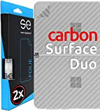 smart engineered [2 STK.] Carbon 3D Schutzfolie für die Rückseite kompatibel mit Microsoft Surface Duo, Schutz vor Dreck & Kratzern, Backcover, Alt. Panzerglas, Carbon-Optik