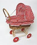 Tigana Puppenwagen aus Weide & Holz Nostalgie Holzpuppenwagen (N-284)