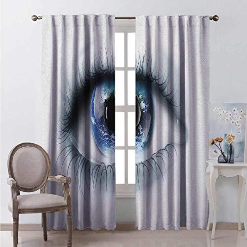 Toopeek - Cortina aislante para sombra de ojos (54 x 72 cm), color negro y azul