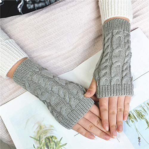 Manufacturer OFFicial shop Women Winter Max 74% OFF Knitting Half Finger Fish Mitts Warm Gloves Scales