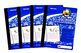 Mintra Office Composition Notebooks- Primary Ruled Paper 80 Sheets Creative, Hardcover Book, Grade K-2, (4 Pack, Blue Cover) 7.5in x 9.75in For School, Home, Business, Office