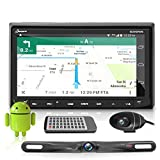 Pyle Premium Android 7' Double DIN Bluetooth DVR Dash Cam, Dual Camera, Car Stereo Receiver, Touchscreen Tablet Style Display, Wi-Fi Web Browsing, App Download