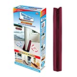 Twin Draft Guard Extreme for Doors Burgundy PATENTED & TRADEMARKED, Single