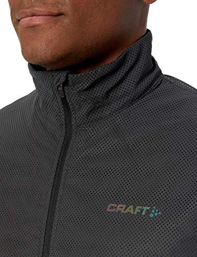 Craft Men's Lumen Subz Padded Reflective Cold Weather Jacket, Black, Medium