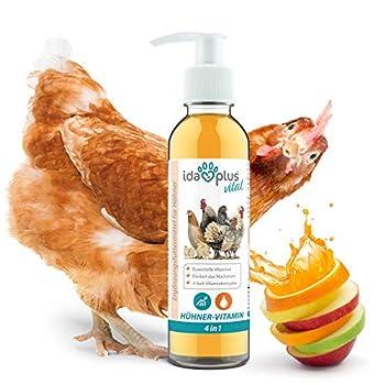 Ida Plus – Hühner-Vitamin 4in1 200 ML - Concentré de vitamines avec Vitamine ADEC pour des défenses Solides et Une Croissance Stable - Complément Alimentaire pour fournir des vitamines aux Poulets