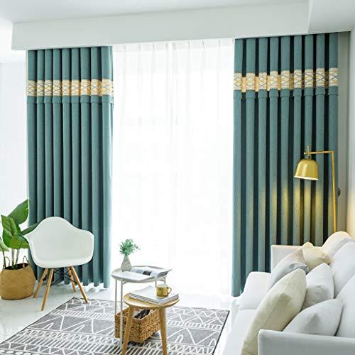 ZLYH Cortina 2018 Dormitorio Acabado salón de Gama Alta Estilo nórdico apagón (Tamaño : 3 * 2.7m)