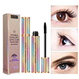4D Silk Fiber Lash Mascara Waterproof Black,Lengthening and Thick,fiber mascara, Long Lasting, waterproof mascara.