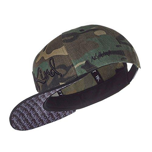 Nebelkind Unisex Snapback Cap Camouflage Tarnfarbe Kappe Grün One Size