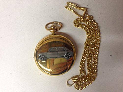 Austin 1100 Mk 3 ref9 auto stemma in peltro effetto lucido, colore: oro su una custodia regalo orologio da taschino al quarzo, made in sheffield