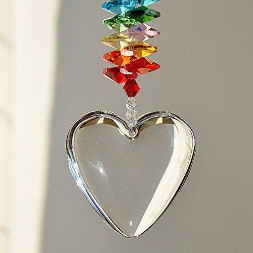 Crystal Glass Chakra Suncatcher Window Hanging Ornament, Love Relationship Anniversary Gift, Birthday