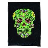 Karma Konnection 45' X 60' Sugar Skull Day of The Dead Super Soft Fleece Blanket