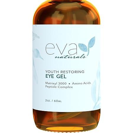 Eye Gel - Larger Size 2 oz Bottle - Best Firming Eye Cream Treatment for Dark Circles, Puffy Eyes, Crow's Feet, Fine Lines & Under Eye Wrinkles by Eva Naturals