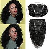 Ms TAj Clip afro crespi ricci nelle estensioni dei capelli veri capelli umani 10 pezzi clip nelle estensioni dei capelli umani per donne nere