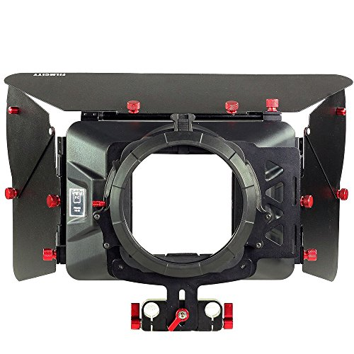 FILMCITY Power Professional Camera Matte Box for 15mm Rail Rods for Video, Camcorder, DSLR Camera Rigs & Cages (MB-99-PRO)