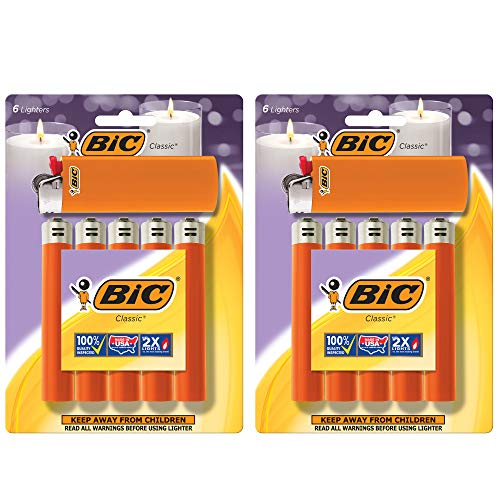 BIC Classic Lighter, Orange, 12-Pack (Packaging May Vary)