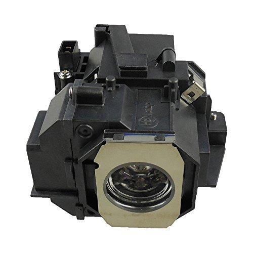 Supermait EP49 Lámpara de repuesto para proyector con carcasa, compatible con Elplp49, adecuada para EH-TW2800 / EH-TW3000 / EH-TW3800 / EH-TW5000 / EH-TW5800 / EMP-TW3800 EH-TW4000 EMP-TW5000