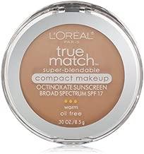 L'Oréal Paris True Match Super-Blendable Compact Makeup, W3 Nude Beige, 0.3 oz.