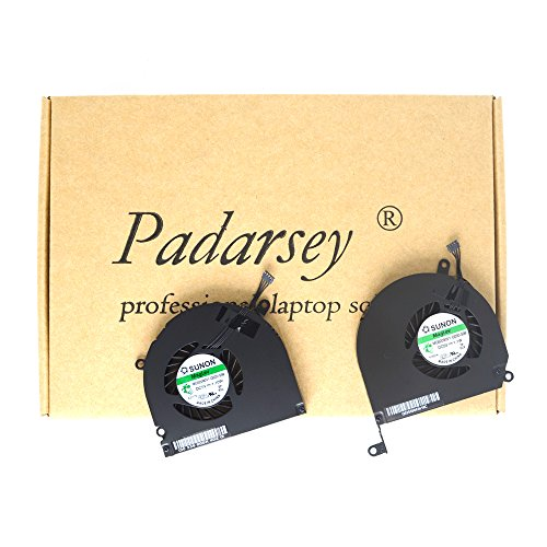 Padarsey 15-Inch A1286 Left+right Side CPU Cooling Fan 2008 2009 2010 2011 2012 for Apple Macbook Pro