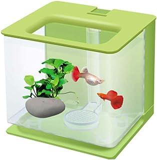 Pecera de plástico para acuario, diseño de pez perezoso, tamaño pequeño moderno Large Lightgreen