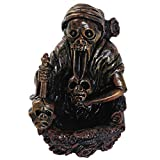 Wakauto Skull Backflow Incense Burner, Resin Skeleton Incense Fountain, Holder Decorative Skeleton Figurine Cone Holder Censer Craft for Home(Brown)