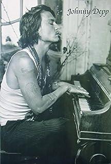 Póster XXL de Johnny Depp (101,5cm x 152cm) + 1 Póster con Motivo de Paraiso Playero