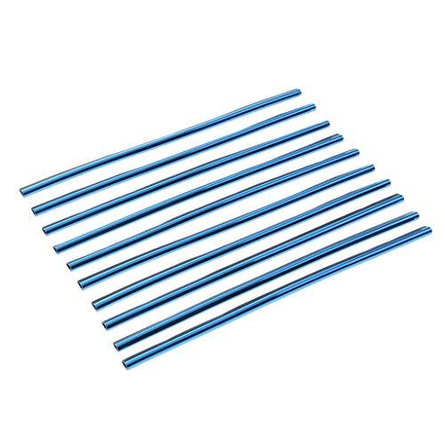 Homyl 10pcs Set Chrome De Voiture Climatiseur Sortie Bande De Garniture De Grille D'Aération - Bleu