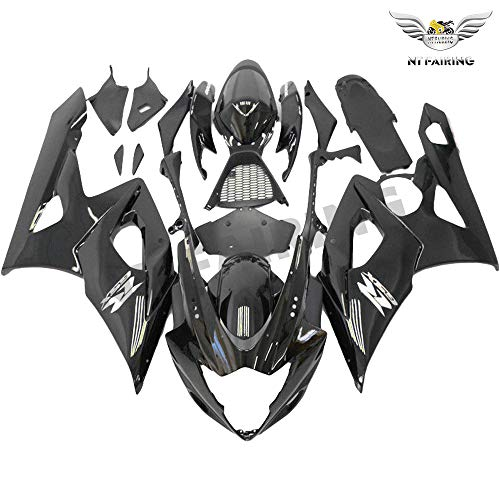 NT FAIRING Glosy Black Injection Mold Fairing kits Fit for Suzuki 2005 2006 GSXR 1000 K5 05 06 GSX-R1000 Aftermarket Painted ABS Plastic Motorcycle Bodywork
