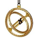 Taschensonnenuhr Ringsonnenuhr aus Messing (Antik Design), Sundial