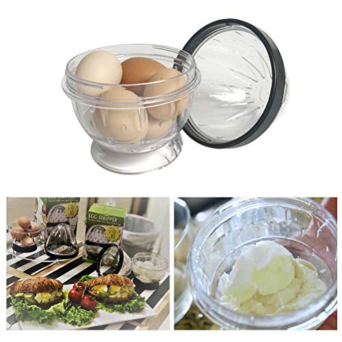 Kikier Kitchen Gadgets, Kitchen Egg Peeler Transparent Boiled Egg Peeler Eggshell Separation Tool