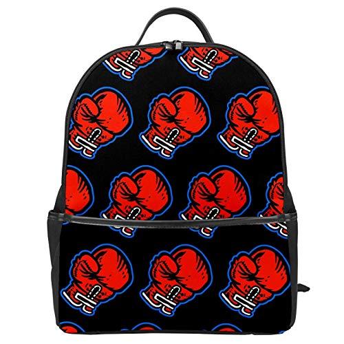 Boxhandschuhe Boxsack Schultasche Rucksack Canvas Rucksack Große Kapazität Satchel Casual Travel Daypack für Kinder Mädchen Jungen Kinder Studenten
