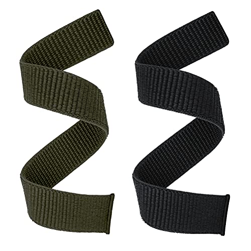YOOSIDE 26mm Loop Nylon Armband für Fenix 6X / Fenix 5X, Ultraleichtes Schnell Trocknen Schleife Waschbar Uhrenarmband für Garmin Fenix 6X Pro/Sapphire,Enduro,Fenix 5X Plus,Tactix Delta (Schwarz Grün)