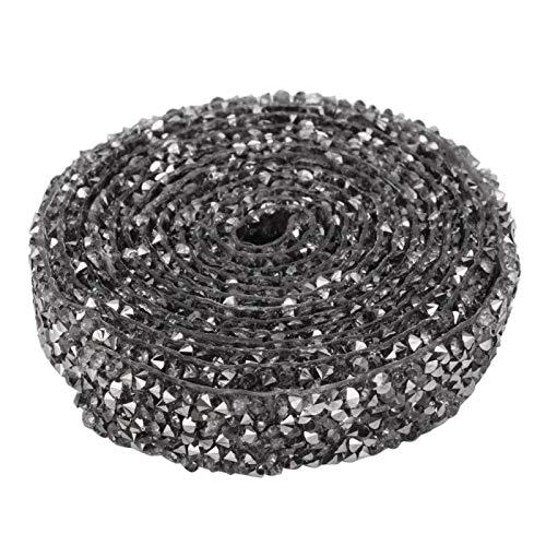 Ajuste de malla de cristal de 5 yardas Rhinestone Iron-On Applique de...