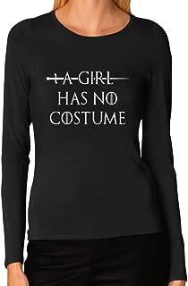 A Girl Has No Costume - Funny Halloween Women Long Sleeve T-Shirt