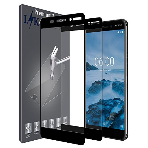 LK Pellicola Protettiva per Nokia 6.1/Nokia 6 2018 [2 Pack], L&K [Copertura Completa] Protezione Schermo Vetro Temperato Screen Protector [Garanzia di Sostituzione a Vita] - Nero