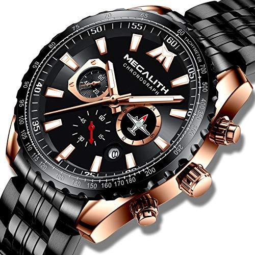 MEGALITH Relojes Hombre Relojes Grandes de Pulsera Militar Impermeable
