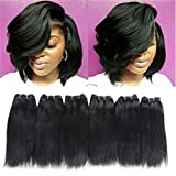 6 Bundles Extensions Hair Straight Human Hair Weave Bundles Virgin Brailian Hair 50g/pcs …