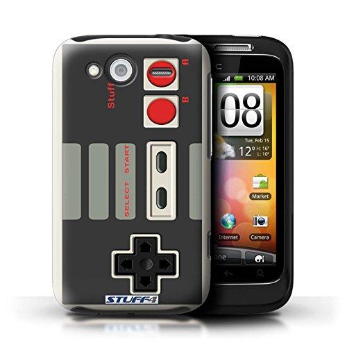 Hülle Für HTC Wildfire S/G13 Spielkonsolen Klassisches Nintendo Design Transparent Ultra Dünn Klar Hart Schutz Handyhülle Case