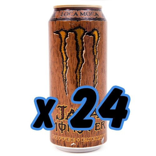 Monster Energy Drink, Java Monster Coffee + Energy Drink, Loca Moca, 16-Ounce Cans (Pack of 24)