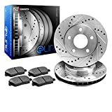 1991 Infiniti Q45 Performance Brake Rotors - R1 Concepts KEDS10555 Eline Series Cross-Drilled Slotted Rotors And Ceramic Pads Kit - Rear