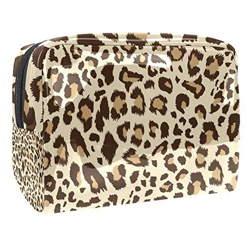Trousse de toilette multifonction pour maquillage et maquillage - Imprimé léopard