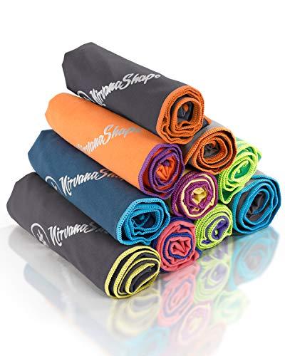 NirvanaShape ® Toalla de Microfibra | 14 Colores | 8 Dimensiones | Toalla de Viaje Ligera, Absorbente y de Secado Rápido | Toalla de Baño para Viajes | Ideal para Playa, Camping, Yoga y Sauna